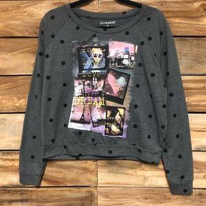 Polka dot love dream pullover sweatshirt